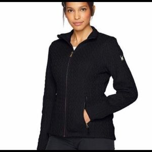 NWT Black SPYDER Cable Core Sweater Jacket